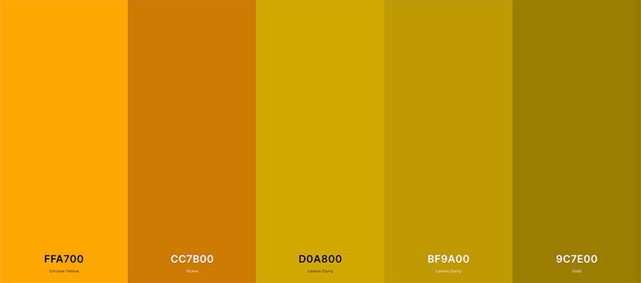 Contoh warna mustard untuk background foto buku nikah
