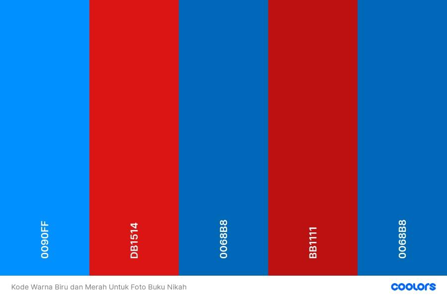 √ Kode Warna Background Biru Dan Merah Untuk Di Buku Nikah - Kartika  Catering