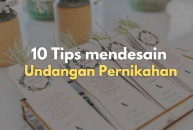 10 Tips Mendesain Undangan Pernikahan